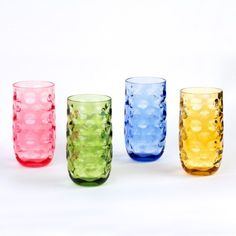 IMPRESSION PLASTIC TUMBLERS, 20 OZ, 4 PACK (ASSORTED COLORS)  From elegant dinners to casual get togethers, these cup's dynamic design will suit all your entertaining needs. Named after it's imaginative design, this collection is perfect for refreshing spritzers, spiked spirits, and many other beverages. Cupture's Impression glasses capture and illuminate light like a kaleidoscope, revealing unique shapes which create ephemeral drinking experiences. These tumblers feel comfortable in your…
