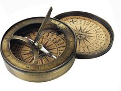 Vintage Compass | Antique Compass 18th C. and Sundial from AM.