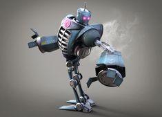 ArtStation - Bule robot, Shuai Guo