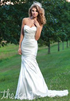 Asymmetrical Sweetheart Shimmer Charmeuse Mermaid Wedding Dress with Pleated Skirt Sincerity Bridal 3666 Sincerity Bridal Wedding Dresses, Bridal Dresses 2015, Beautiful Bridal Dresses, Popular Wedding Dresses, 2016 Wedding Dresses, Sweetheart Wedding Dress, Formal Dresses For Weddings, Bridal Gowns, Wedding Gowns