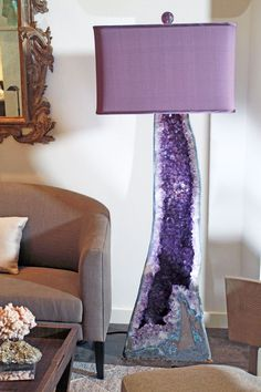 Mineral lamps a h :: Amethyst purple :: Minerals | Crystals | Rocks | Geodes | Empressive GeoDesigns, Inc | mineral lamps, geode accessories
