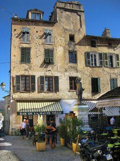 Place Gaffory, Corte, Corsica, France