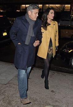 Amal Clooney Photos - George Clooney & Amal Alamuddin Dine In NYC - Zimbio