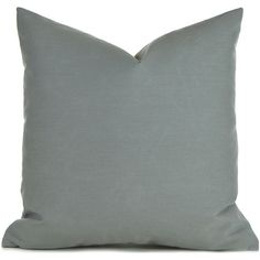 outdoor/indoor Pillow Covers Any Size Decorative Pillows Solid Grey... ($15) ❤ liked on Polyvore featuring home, home decor, throw pillows, decorative pillows, grey, home & living, home décor, grey accent pillows, outdoor throw pillows and outdoor pillow inserts