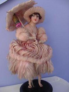Wax Half Doll Night Light Souvenir