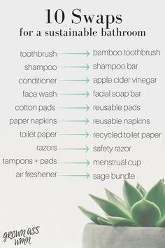 When trying to reduce your waste, the bathroom is the perfect place to start. It's probably one of the smaller rooms in your home, and you also likely have quite a few items in there that produce waste on a regular (if not daily) basis. That being said, transitioning to a sustainable bathroom couldn't be easier. Here are 10 simple swaps for your low waste, eco-friendly bathroom!