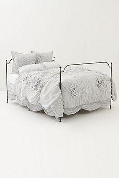 Duvet and bed skirt