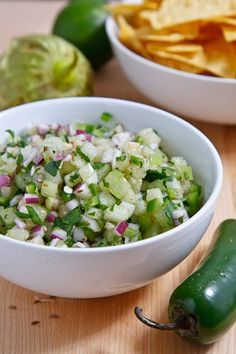 Tomatillo Pico de Gallo   2 cups tomatillos, seeded and diced 1/4 cup onion, diced 1 clove garlic, chopped 1 jalapeno, seeded and diced 1 lime, juice 1 handful cilantro, chopped 1/4 teaspoon cumin, toasted and ground salt and pepper to taste