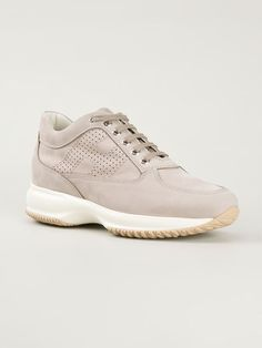 Hogan Lace Up Sneakers - Farfetch Uni Outfits, Designer Trainers, Sporty Style, Beige, Sneakers Nike, Fitness, Fashion Design, Shopping, Shoes