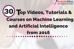 "30 Top Videos, Tutorials & Courses on machinelearning & Artificial Intelligence from 2016::  2016 has been the year of ""machinelearning and deeplearning"". We have seen the likes of Google, Facebook, Amazon and many more come out in open and acknowledge the impact machinelearning and deeplearning had on their business.  Last week, I published top videos on deeplearning from 2016. I w .."