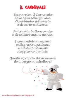 poesie o filastrocche carnevale