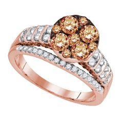 Diamond Fashion Ring in 14k Rose Gold 1.5 ctw - Rings - Jewelry at Viomart.com