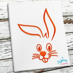 "Cute Easter Bunny Embroidery Design. You get three diferent bunnys and 3 different sizes  Sizes: 2"", 3"" and 4"""
