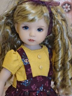 """Heritage Autumn - dress, tights & shoes for Effner Little Darling Doll 13"""" #DiannaEffner"""