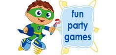 Super Why to the rescue… with games, activities, decorations and party food. We've got everything you'll need to plan and celebrate your child's birthday featuring Super Why, Princess Presto, Alpha Pig and Wonder Red.