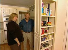Learn how to construct and install a built-in pantry cabinet with pull-out storage sections