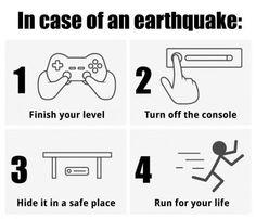 Earthquake? Take care of the essentials.