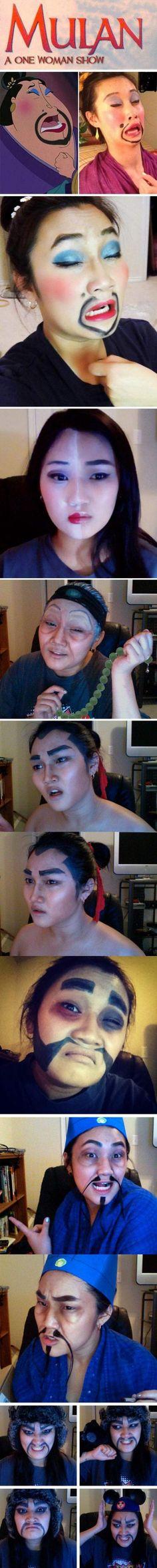 Mulan and the power of make up.
