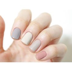 Neutral colors, each a different hue. Pastel Color Nails, Pastel Nail Polish, Nail Polish Colors, Pastel Colours, Pastels, Cute Nails, Trendy Nails, Hair And Nails, My Nails