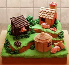 Three+Little+Pigs+-+Cake+by+TracyH