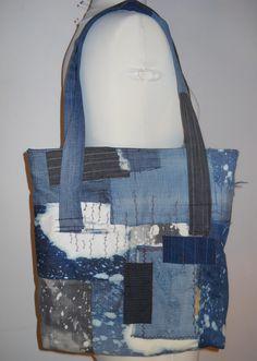 Boro Inspired Patchwork Denim Bag