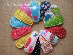Nap Time Journal: Fabric Scrap Hair Clips