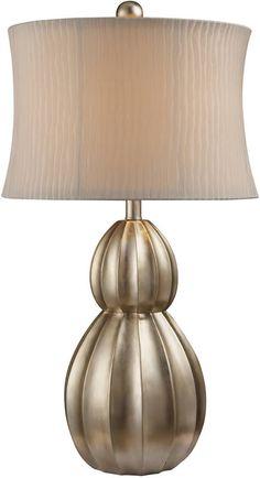 "0-029758>31""""h Marion 1-Light Table Lamp Antique Silver Leaf"