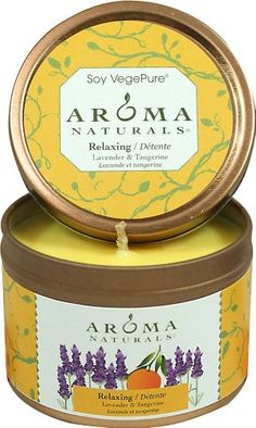 AROMA NATURALS CNDL,SOY,RELAX,APR,SM TIN, CT