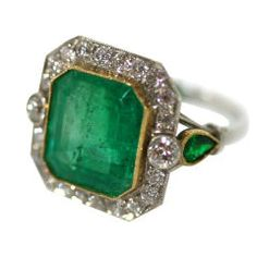 Art Deco Emerald Ring, a girl can keep dreaming, Fabulous