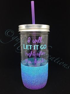 This listing is for one 24 oz. mason jar tumbler with the above design and a BPA-free straw. The ombré glitter dip gives this custom-made
