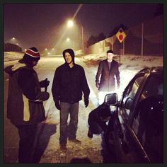 How many Home Free members does it take to change a tire on a rental car in a mini-blizzard? Zero, we're calling AAA