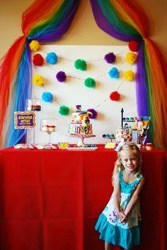 arty party backdrop
