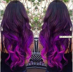How beautiful is this black to purple ombre?