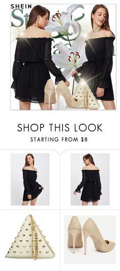 """Shein"" by adela-mehic ❤ liked on Polyvore Bardot Dress, Dress P, Romwe, Polyvore, Sleeves, Shopping, Fashion, Moda, Fashion Styles"