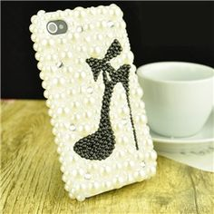 Luxury 3D Bling Pearl Crystal Rhinestone Back Cover Case for iPhone 5/4/4S on Yoyoon.com. Make every day valentine's day!