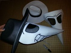 Spy vs. Spy costumes with fabric mask tutorial.