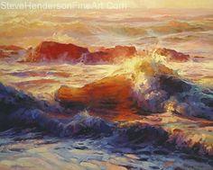 Opalescent sea by Steve Henderson