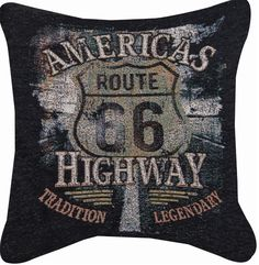 Truckers Americas Highway Route 66 Pillow                                                                                                                                                     More