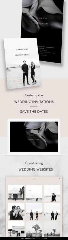 Modern Wedding Invitations, Save the Dates & Coordinating Wedding Websites. Design Your Own Online and Customize Everything!