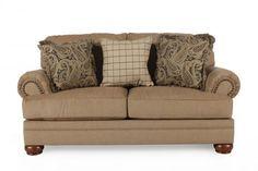 ASH-C-3820035 - Ashley Keereel Sand Loveseat | Mathis Brothers Furniture