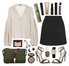 """""""Ravello"""" by sophiehackett ❤ liked on Polyvore featuring Topshop, Hellessy, Office, Clé de Peau Beauté, Giorgio Armani, Origins, Elizabeth and James, Burt's Bees, NARS Cosmetics and Sephora Collection"""