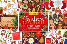 Christmas Scene Creator Volume 4 by pixaroma on @creativemarket
