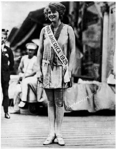 Miss America in the 1920s, I love the natural curvy figures.