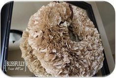 Blissfully Ever After: How to Make a Coffee Filter Wreath
