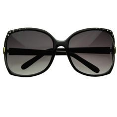 Jackie O Vintage Oversize Square Sunglasses w/ Rhinestones 2273 ($13) ❤ liked on Polyvore featuring accessories, eyewear, sunglasses, glasses, cut out sunglasses, gradient lens sunglasses, vintage eyewear, oversized vintage glasses and square vintage sunglasses
