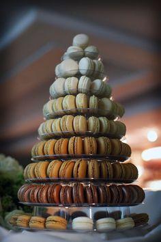 Contemporary Macaron Tower by Ganache Macaron. Handmade Premium Macarons in London. Photography by Helen Whitaker. #GanacheMacaron #glutenfree #handmade #macarons #macaroons #MacaronTower #MacaronCake #DessertTable #BuffetTable