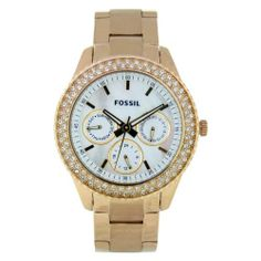 Fossil Women's ES2861 Stainless Steel Analog with White Dial Watch Fossil. Save 29 Off!. $96.52. Stainless steel case. Scratch resistant mineral. Case diameter: 37. Water-resistant to 50 Meters(165 feet). Analog quartz movement