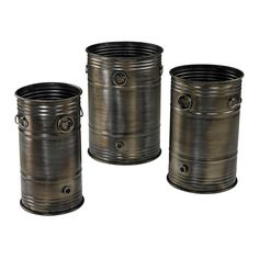 Industrial Oil Drum Planters - Set Of 3