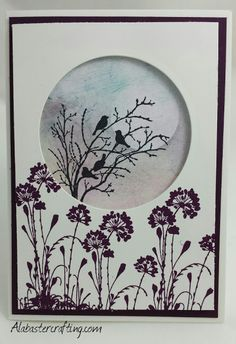Neutrale Karte/neutral card Stampin up Material: Stempelsets: Serene Silhouettes… Bird Cards, Butterfly Cards, Flower Cards, Handmade Birthday Cards, Greeting Cards Handmade, Serene Silhouettes, Art Carte, Stamping Up Cards, Watercolor Cards