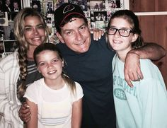 Denise Richards, Sam Sheen, Charlie Sheen and Lola Rose Sheen